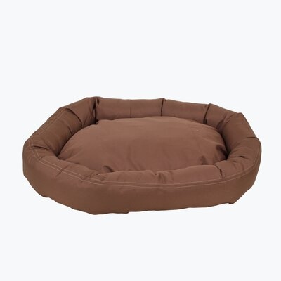 Brutus Tuff Comfy Cup Bolster Dog Bed Size: Small (27 L x 24 W), Color: Chocolate