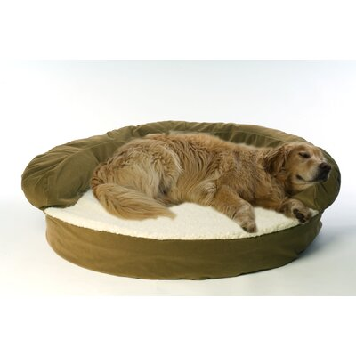 Ortho Sleeper Bolster Dog Bed Size: Large (50 L x 50 W), Color: Sage