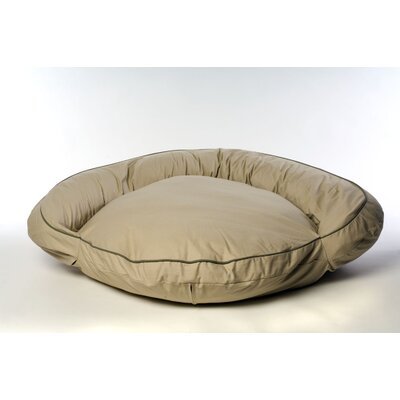 "Classic Twill Bolster Dog Bed Size: Medium (42"" L x 42"" W)"