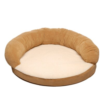 Ortho Sleeper Bolster Dog Bed Size: Small (35 L x 35 W), Color: Caramel
