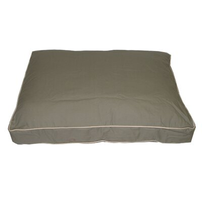 "Classic Twill Rectangular Dog Pillow Size: Medium (36"" L x 27"" W), Color: Sage"