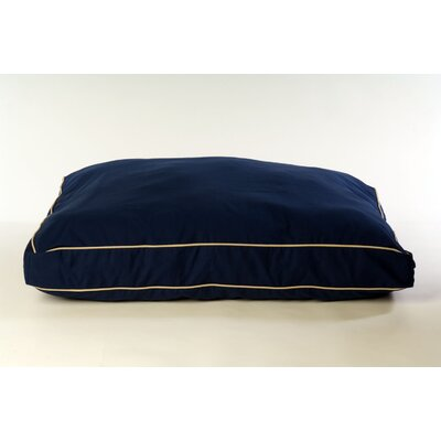 "Classic Twill Rectangular Dog Pillow Size: Large (42"" L x 30"" W), Color: Blue"
