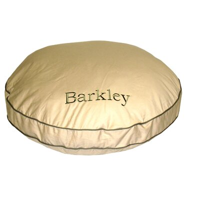 "Twill Classic Round Dog Pillow with Sage Cording Size: Medium (35"" L x 35"" W)"