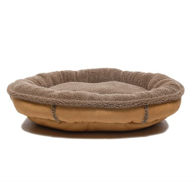 Faux Suede Oblong Comfy Cup Donut Dog Bed Size: Small (27