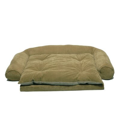 Ortho Sleeper Comfort Couch Bolster Dog Bed Size: Small (47 L x 32 W), Color: Sage