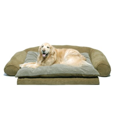 Ortho Sleeper Comfort Couch Bolster Dog Bed Size: Medium (56 L x 37 W), Color: Sage