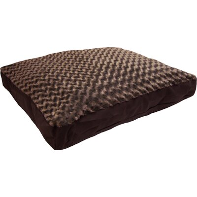 Reina Pet Bed Size: Large (36 L x 27 W), Color: Chocolate