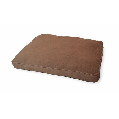 Snuggle Faux-Sheepskin Deluxe Pillow Color: Espresso, Size: Extra Large - 44 L x 35 W