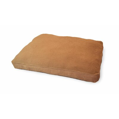 Snuggle Faux-Sheepskin Deluxe Pillow Size: Large - 36 L x 27 W, Color: Camel