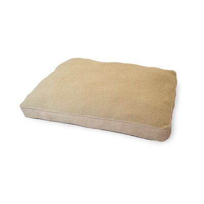 Snuggle Faux-Sheepskin Deluxe Pillow Size: Extra Large - 44 L x 35 W, Color: Clay
