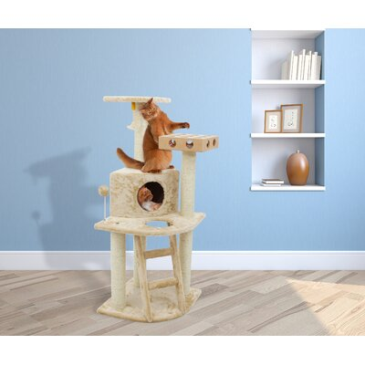 "47"" Tiger Tough Deluxe Clubhouse Cat Tree 97100"