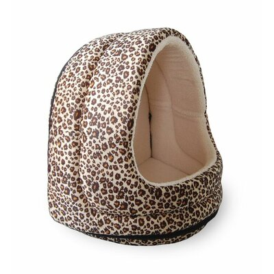 Cheetah Fur Hood Cat Bed