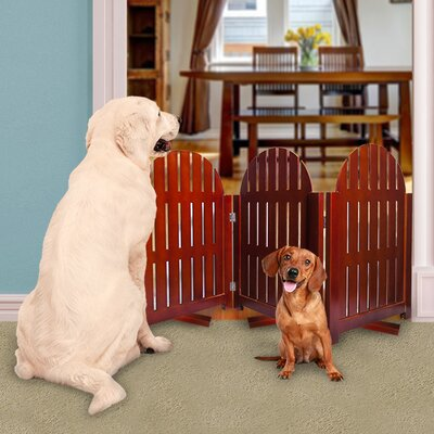 Freestanding Pet Gate with Swivel Feet