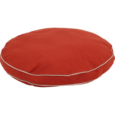 Twill Classic Round Dog Pillow Size: Large (42 L x 42 W), Color: Red