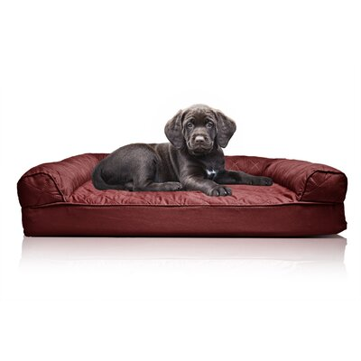 Quilted Orthopedic Sofa-Style Dog Bed Color: Wine Red, Size: Extra Large(44 L x 35 W)