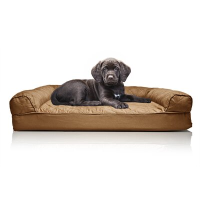Quilted Orthopedic Sofa-Style Dog Bed Color: Warm Brown, Size: Medium (30 L x 20 W)