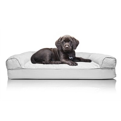 Quilted Orthopedic Sofa-Style Dog Bed Color: Silver Gray, Size: Extra Large(44 L x 35 W)