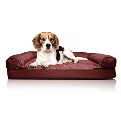 Quilted Orthopedic Sofa-Style Dog Bed Color: Wine Red, Size: Small (20 L x 15 W)