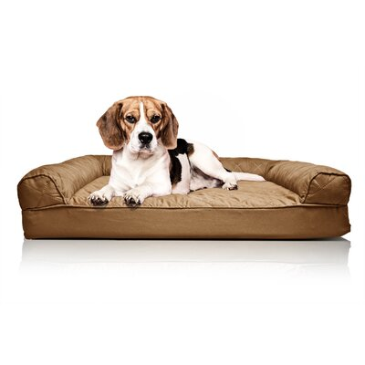 Quilted Orthopedic Sofa-Style Dog Bed Color: Warm Brown, Size: Large (36 L x 27W)