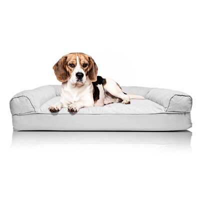 Quilted Orthopedic Sofa-Style Dog Bed Color: Silver Gray, Size: Small (20 L x 15 W)