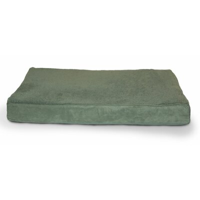 Snuggle Terry and Suede Memory Foam Dog Bed Color: Forest, Size: Large (36 L x 27 W)