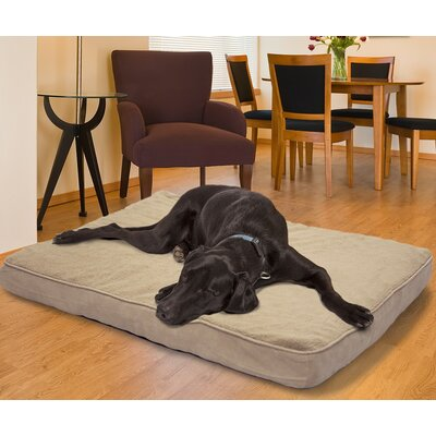 Snuggle Terry and Suede Memory Foam Dog Bed Color: Clay, Size: Small (20 L x 15 W)
