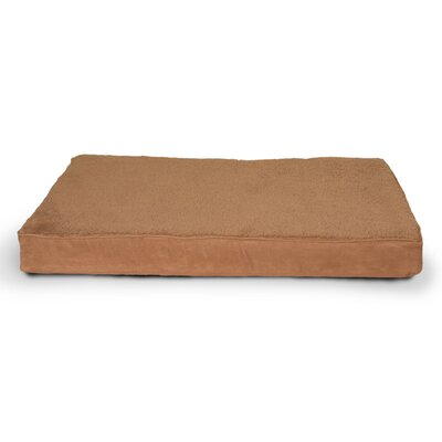 Snuggle Terry and Suede Memory Foam Dog Bed Color: Camel, Size: Large (36 L x 27 W)
