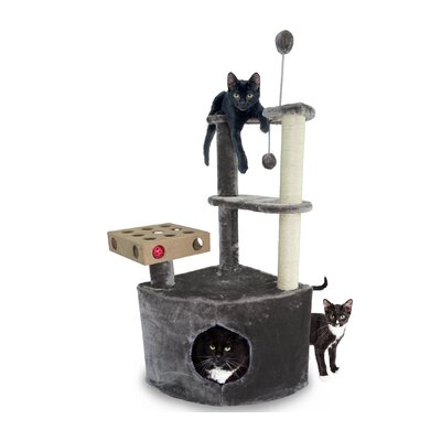 Home Base Playground Corner Cat Tree with Cat Condo