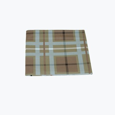 Waterproof Pet Throw Blanket in Blue & Brown Plaid