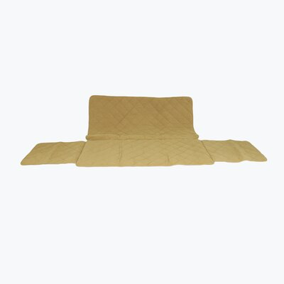 Diamond Quilted Couch Protector Upholstery: Caramel, Size: 34 H x 72 W x 27 D