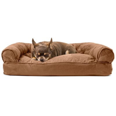 Deluxe Dog Bolster Color: Warm Brown, Size: 10 H x 44 W x 35 D