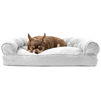 Deluxe Dog Bolster Color: Silver Gray, Size: 8 H x 36 W x 27 D