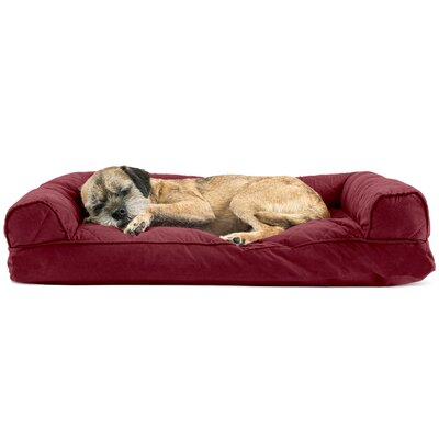 Deluxe Dog Bolster Color: Wine Red, Size: 10 H x 44 W x 35 D