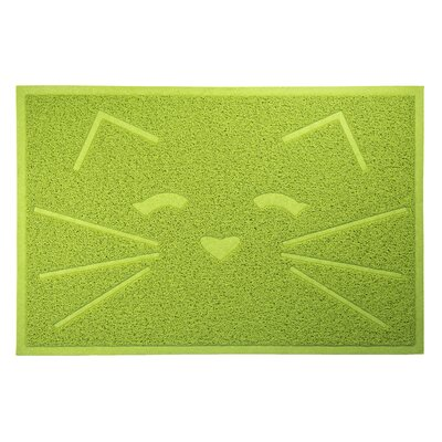 Tiger Tough Tidy Paw Litter and Food Mat Color: Green