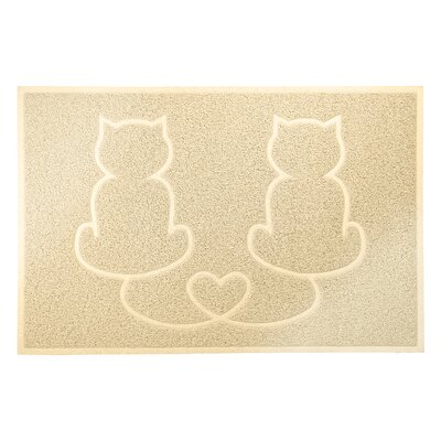 Tiger Tough Tidy Paws Litter and Food Mat Color: Cream