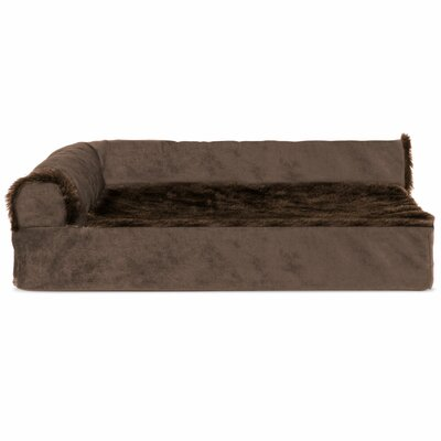 Plush and Velvet Deluxe Orthopedic Dog Sofa Color: Sable Brown, Size: Extra Large (44 W x 35 D x 8 H)