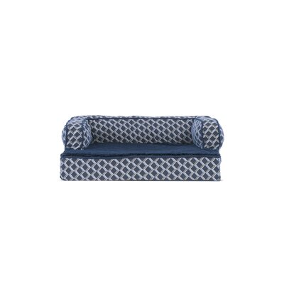 Comfy Couch Orthopedic Dog Sofa Color: Diamond Blue, Size: 30