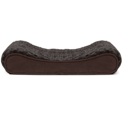 Ultra Plush Luxe Lounger Contour Dog Pillow Color: Chocolate, Size: 36 W x 24 D x 5.5 H