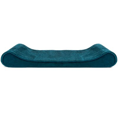 Minky Plush Velvet Luxe Lounger Contour Dog Pillow Color: Spruce Blue