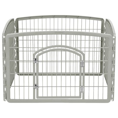 24 Indoor/Outdoor Plastic Pet Pen Color: Chrome