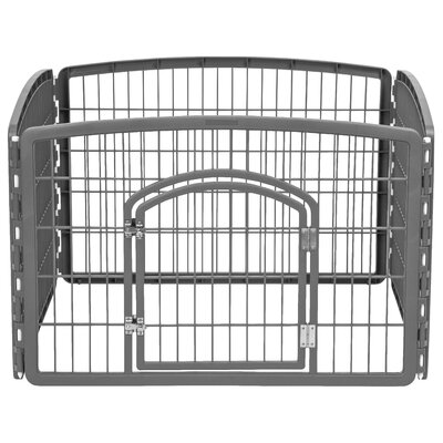 24 Indoor/Outdoor Plastic Pet Pen Color: Gray