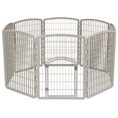 34 Indoor/Outdoor Plastic Pet Pen Color: Chrome