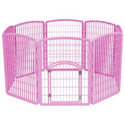 34 Indoor/Outdoor Plastic Pet Pen Color: Pink