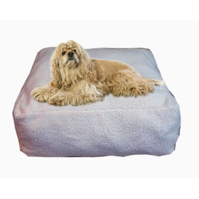 "Cloud Sherpa Pouf Bolster Dog Bed Size: Medium (30"" L x 30"" W)"