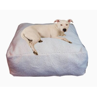 "Cloud Sherpa Pouf Bolster Dog Bed Size: Small (26"" L x 26"" W)"