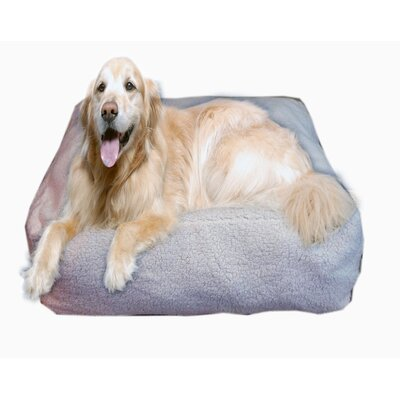 "Cloud Sherpa Pouf Bolster Dog Bed Size: Large (34"" L x 34"" W)"