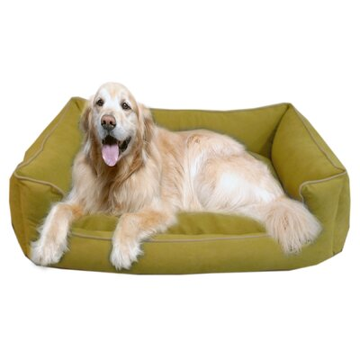 "Low Profile Kuddle Lounge Bolster Dog Bed Size: X-Small (26"" L x 19"" W), Color: Willow"