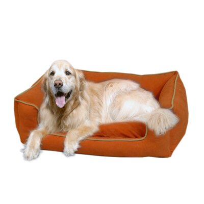 "Low Profile Kuddle Lounge Bolster Dog Bed Size: Small (30"" L x 24"" W), Color: Apricot"