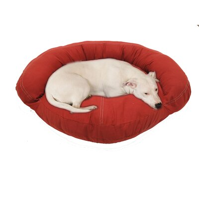 "Barn Saddle Stitch Bolster Dog Bed Size: Medium (42"" L x 12"" W)"