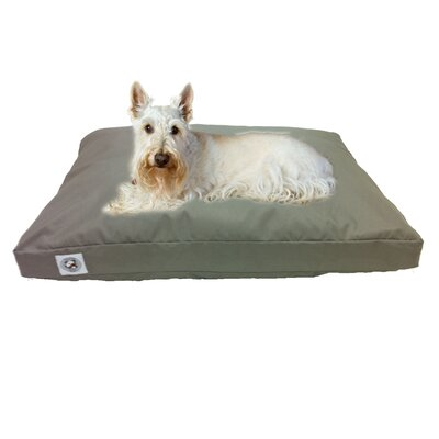 "Brutus Tuff Petnapper Dog Pillow Color: Silver Grey, Size: Extra Small (25"" L x 20"" W)"